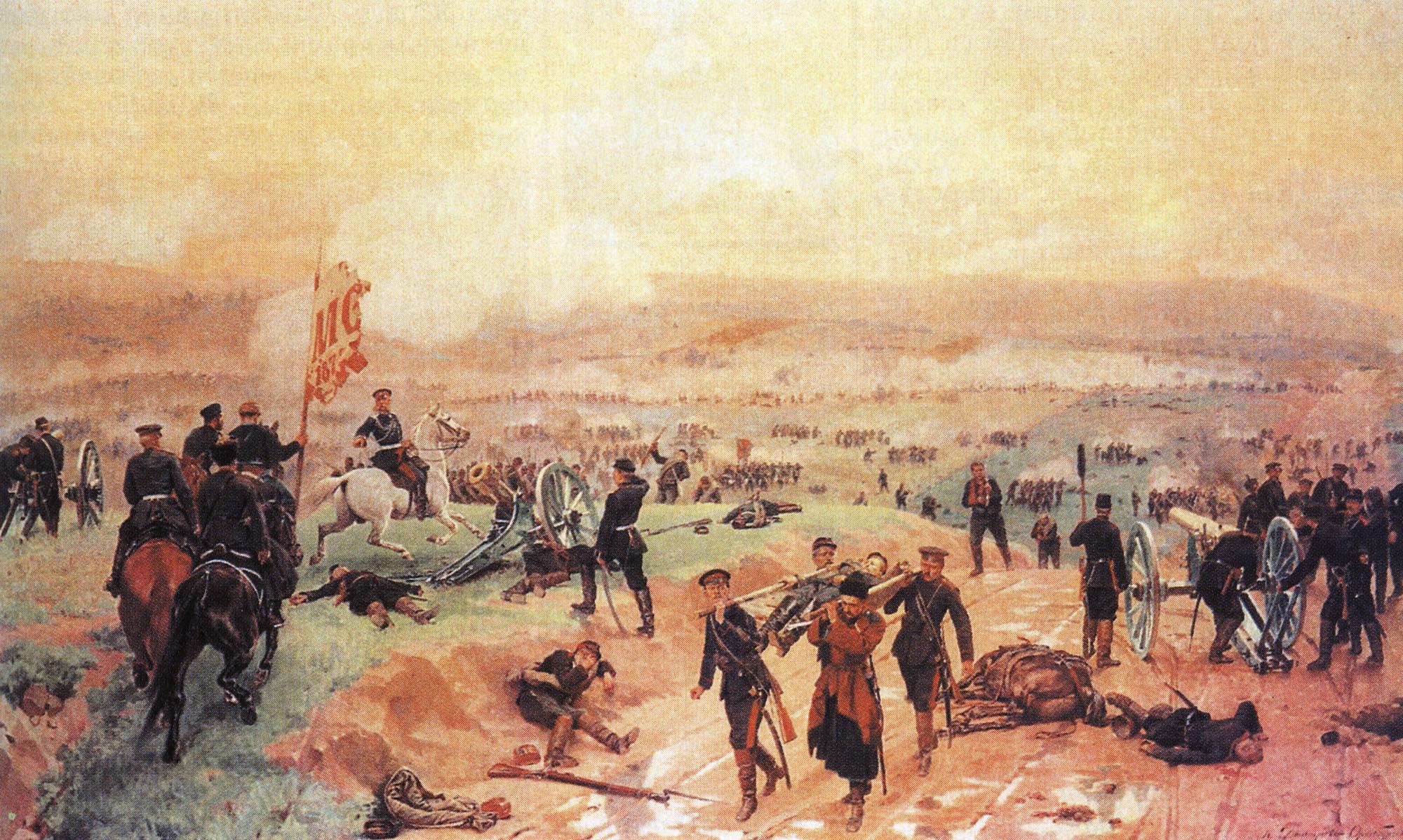 Николай Дмитриев-Оренбургский. Бой под Плевной 27 августа 1877 года. 1883.
