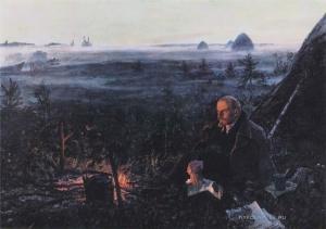 Пластов Аркадий Александрович (1893-1972) «Ленин в Разливе»