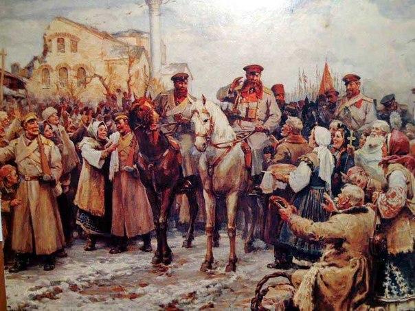 Д. Гюдженов. Въезд генерала Гурко в Софию