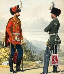 Пиратский К. К. Штаб-офицер лейб-гвардии Гусарского и обер-офицер лейб-гвардии Гродненского гусарского полков. 1858 год.