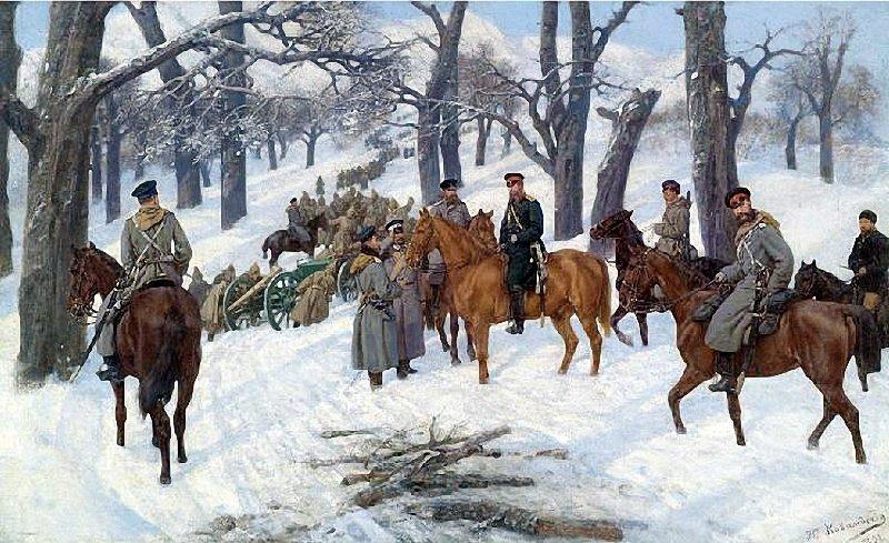 Генерал Иосиф Гурко на Балканах. Ковалевский Павел Осипович. 1891