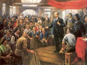 Выступление Ленина перед рабочими завода АМО 28 июня 1918 года. Налбандян Дмитрий Аркадьевич (1906 - 1973)