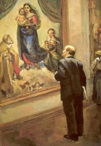 Ленин в Дрезденской галерее в 1914 году. Налбандян Дмитрий Аркадьевич (1906 - 1973)