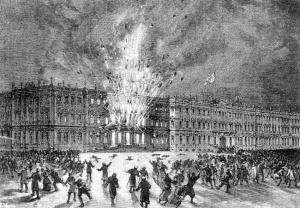 Взрыв в Зимнем дворце. Картина неизвестного художника.