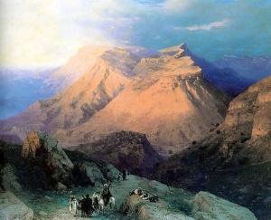 Aivazovsky-Aul_Gunib_in_Dagestan