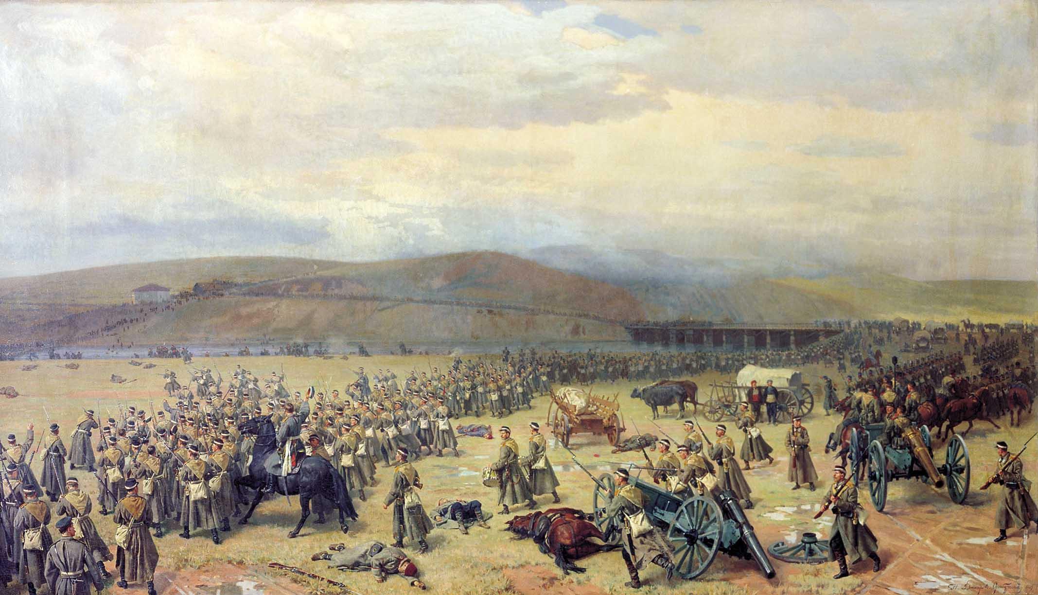 Последний бой под Плевной, взятие всей армии Османа-паши 28 ноября 1877 г. С картины Н. Дмитриева-Оренбургского