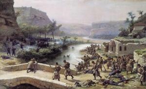 Ковалевский Павел (1843-1903). Бой у Иваново-Чифлик 2 октября 1877 года. 1887 Холст, масло.