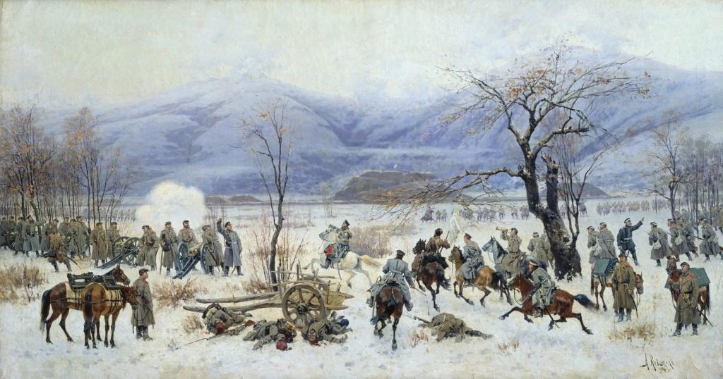 А.Д. Кившенко (1851-1895) - Сражение у Шипки-Шейново 28 декабря 1877 года. 1894