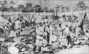 Лагерь 12-го Восточно-Сибирского стрелкового полка в Тяньцзине, во время осады