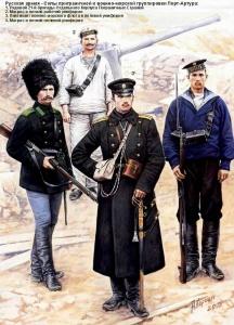 Русская армия в русско-японской войне - Силы приграничной и военно-морской группировки Порт-Артура.