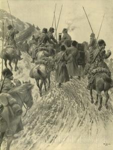 Казачья полевая кухня на марше.Казаки в Русско-японской войне 1904-1905 г.г.