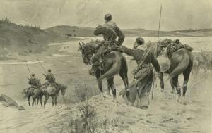 Казаки разведчики на побережье Ляо Тунг. Казаки в Русско-японской войне 1904-1905 г.г.