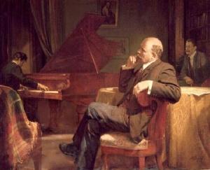 П. Белоусов. В.И.Ленин слушает музыку. 1969