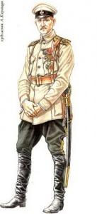 Прапорщик Георгиевских запасных пехотных полков. 1917 г.. Худ. А.Каращук
