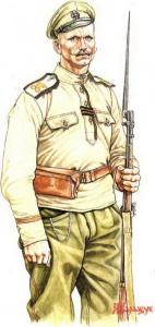 Рядовой Георгиевских запасных пехотных полков. 1917 г. Худ. А.Каращук