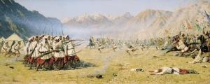 Нападают врасплох! (из цикла картин «Варвары») Художник В.В. Верещагин, 1873 год