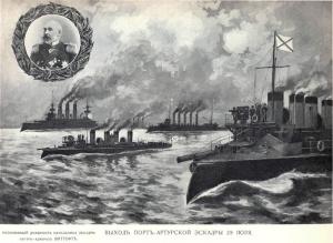 Русско-японская война 1904-1905 годов, война на море. Выход эскадры Порт-Артура и исполняющий должность начальника эскадры контр-адмирал Витгефт..