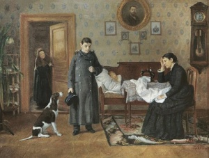 """Дмитрий Егорович Жуков. """"Провалился"""", 1895 г"""