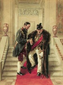 На парадной лестнице - Маковский Владимир