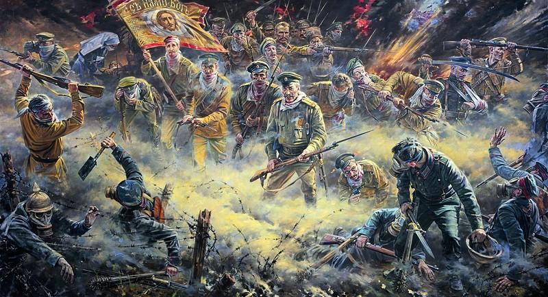 Мы — русские, с нами Бог! Худ. Нестеренко В.И.
