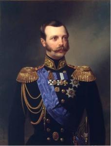 А. И. Гебенс. Портрет императора Александра II в адмиральском мундире Гвардейского экипажа. Холст,масло, 1861.