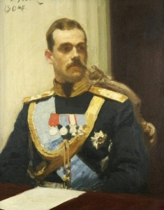 Илья Репин Великий князь Михаил Александрович (этюд). 1901 г.
