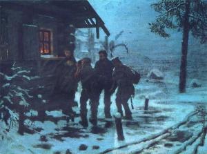 Савицкий Константин Аполлонович [1844—1905] Беглые в Сибири (Христова милостыня). 1892