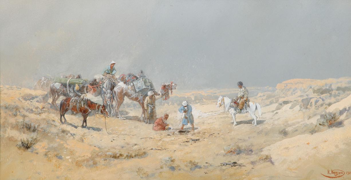 Каразин Н. «Караван в пустыне. Добывают воду» Год создания 1903