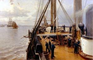 А.К. Беггров. (1841-1914). На палубе фрегата «Светлана».