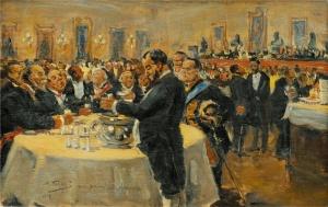 Владимир Маковский. (1918). Название: Важная встреча