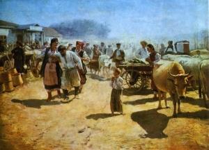 Пимоненко Николай Корнилович 1862 - 1912. На ярмарке. 1898. Харьковский художественный музей