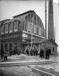 Завод Окско-Волжского общества «Портланд-цемент». Фото М.Дмитриева, 1895.