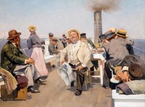 На пароходе. Владимир Егорович Маковский