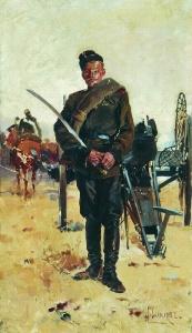 Русский солдат у орудия. Самокиш Николай Семенович