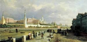 Вид Московского кремля. Верещагин Петр Петрович