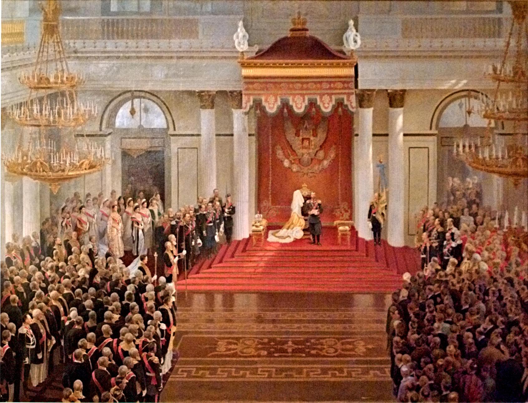 Поляков — Тронная речь Николая II во время открытия I государственной думы в Зимнем дворце