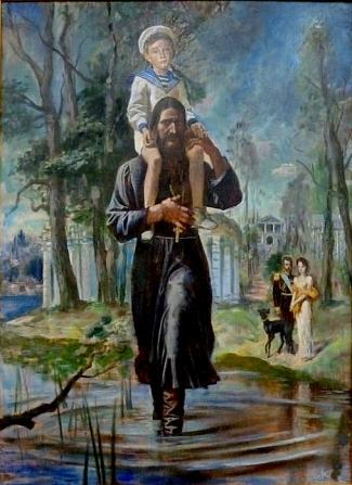 Михаил Кудреватый. В Царском Селе - х/м, 150 x 110, 1990 год