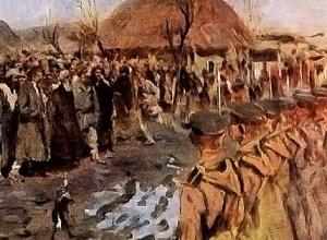 «Бунт в деревне» Картина С.В. Иванова.