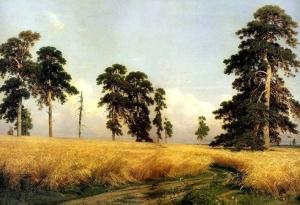 """""""Рожь"""" Шишкин И.И., 1878."""