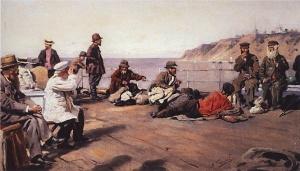 Маковский Владимир Егорович (1846-1920) «На пароходе по Днепру»
