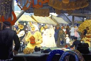 Борис Кустодиев. Ярмарка. Год создания 1908