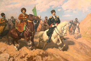 Картина Эдуарда Акуваева «Бой с афганцами под Кушкой»,