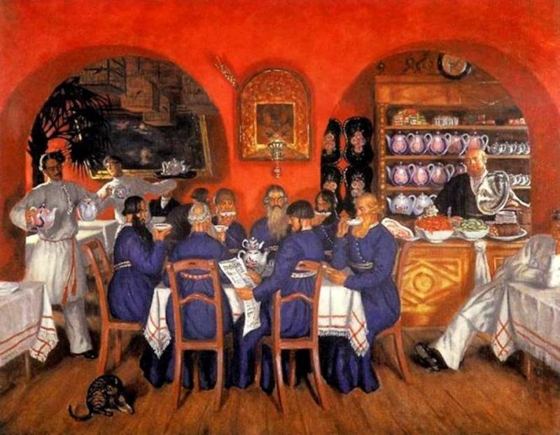 Кустодиев Борис Михайлович (1878 - 1927). Московский трактир (1916)