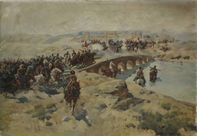 Битва при Кушке с картины Ф. Рубо