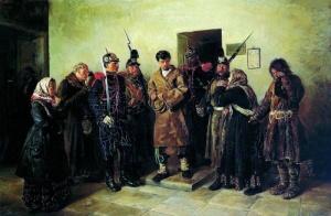 Осужденный. Маковский Владимир Егорович. Государственный Русский музей, Санкт-Петербург.