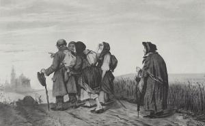 Паломники. На богомолье. Василий Григорьевич Перов. 1867 г. Рис. 31,6х47,3. Государственный Русский музей