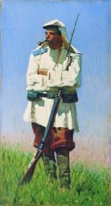 Туркестанский Солдат В Зимней Форме. 1873. Верещагин Василий Васильевич
