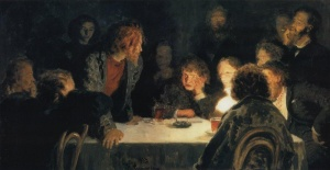 """И.Е. Репин """"Сходка"""". 1883 год."""