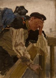 Художник Константин Аполлонович Савицкий КартиныПлачущий солдат.