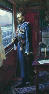Николай II накануне отречения. Художник: Алексеев Валерий Алексеевич. 2005